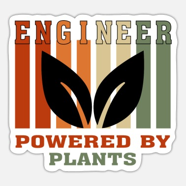 Vegan Engineer Funny Vegan Accountant Powered by Plants T shirt - Sticker