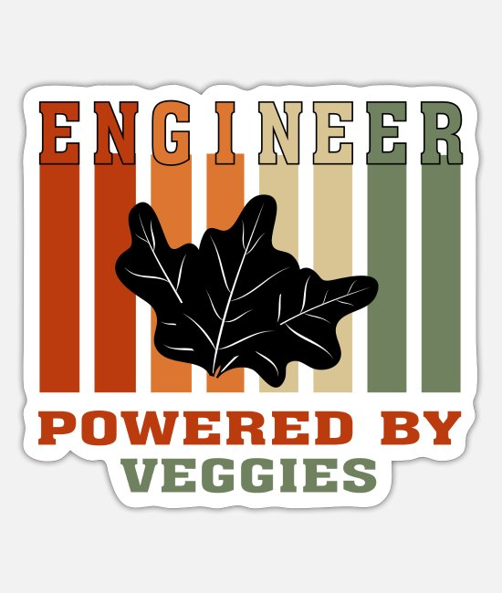 Christmas Stickers - Funny Engineer Powered by Gym Tshirt for Engineers - Sticker white mat