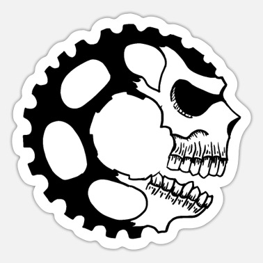 Mountain bike - mountain biking - downhill bike - Sticker