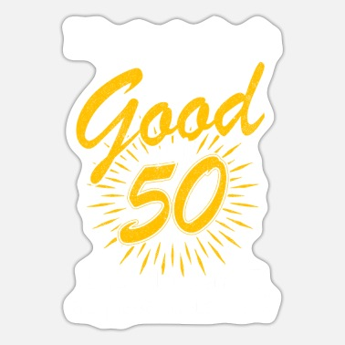 Bursdag Birthday gift 50 birthday established - Sticker