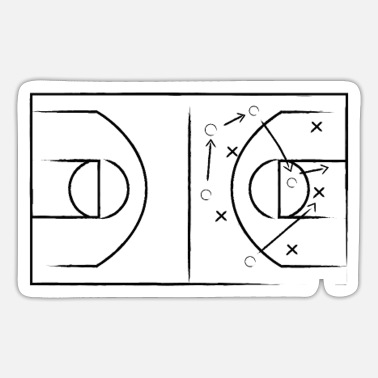 Basketball tactic - Sticker