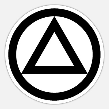 Alcoholics Anonymous Anonymous alcoholic symbol logo AA NA anti alcohol - Sticker