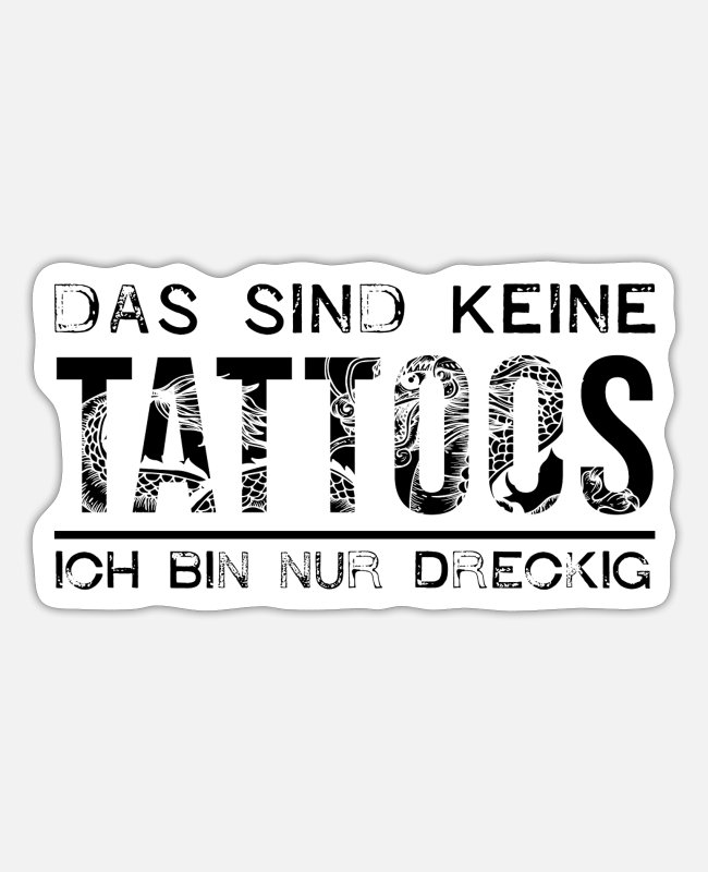 Tätowiert Sticker - Tattoo - Sticker Mattweiß
