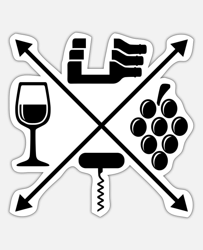 Wine Stickers - Wine - Sticker white matte