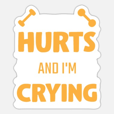 Injured Weightlifting injured wailing athlete - Sticker