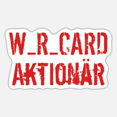 Cards wir card - Sticker