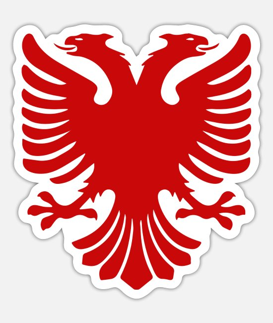 Jul Stickers - Albanien - Sticker mat hvid
