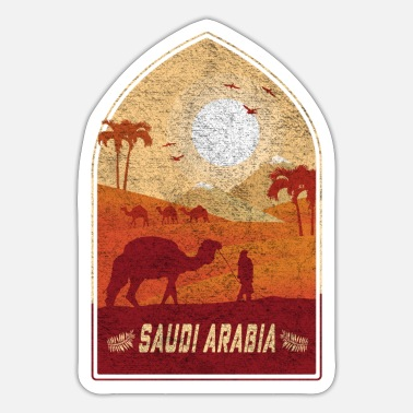 Jeddah Saudi Arabia vintage camel design / gift idea - Sticker