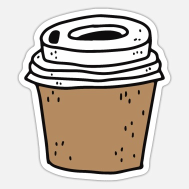 Becher Coffee To Go - Sticker