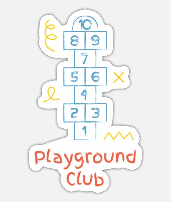Play Stickers - Playground club - Sticker white mat