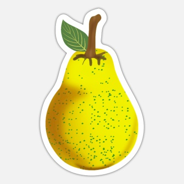 Fruit Fan Pear, pears, fruit, fruit - Sticker