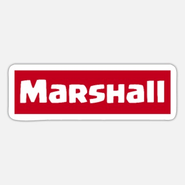 Marshall Marshall Sheriff - Sticker