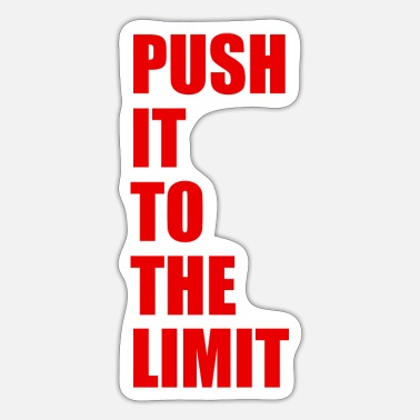 Wretch Push it to the limit red - Sticker