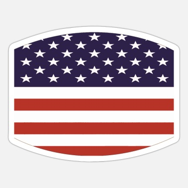 Stars And Stripes american flag stars and stripes pattern - Sticker