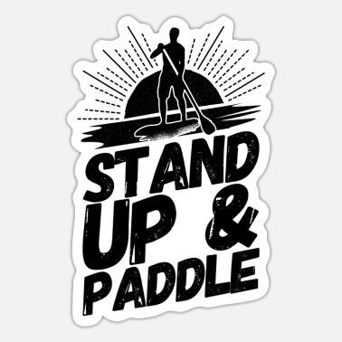 Stand Stand Up Paddling Sup Stand - Sticker