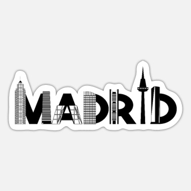 Silhuet Madrid silhuet - Sticker