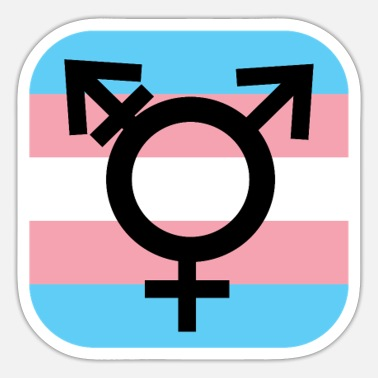 Bi Transgender Pride Flag Trans LGBT Gay - Sticker