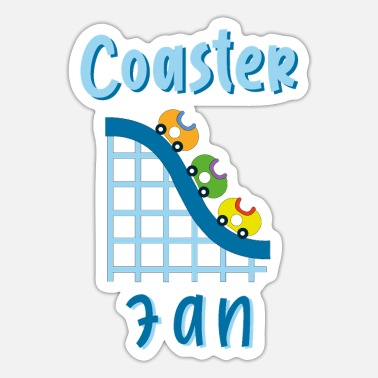 Roller Coaster Fans - Coaster Fan Amusement Park - Sticker