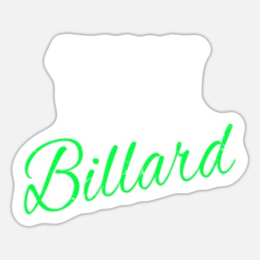 Play Billiards Play billiards pool table billiard accessories billiards - Sticker
