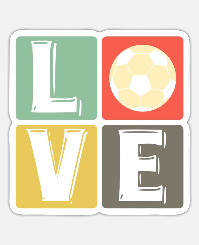 Stadium Stickers - Soccer love soccer players soccer players - Sticker white mat