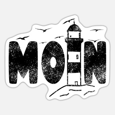 Taciturn Moin lighthouse flat german north german design - Sticker