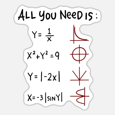 All You Need Is Love Math Teacher All you need is Love Math Trigonometric Functions - Sticker