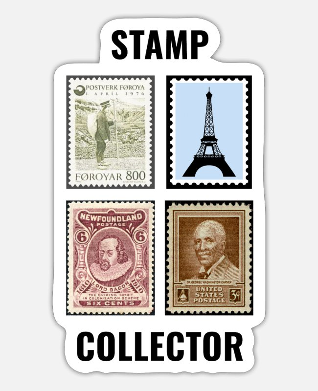 Mail Stickers - Stamp Collecting Collector Philatelist - Sticker white mat