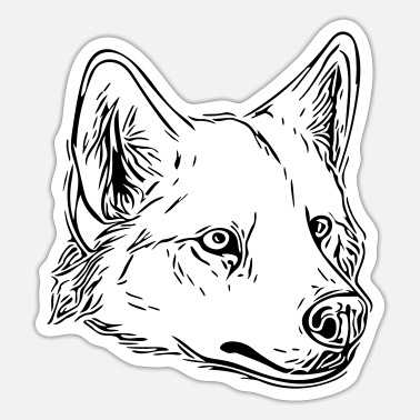 Vector Hond - vector - Sticker