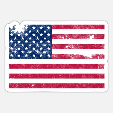 Stars And Stripes Distressed Stars and Stripes - Sticker