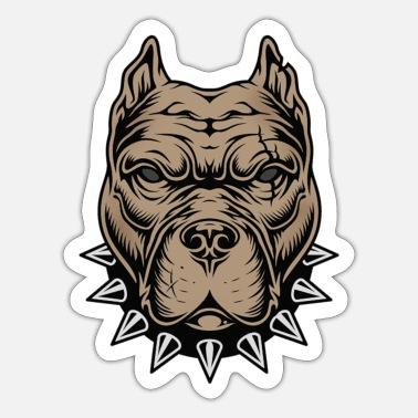 Aggressiv Aggressiv hund - Sticker