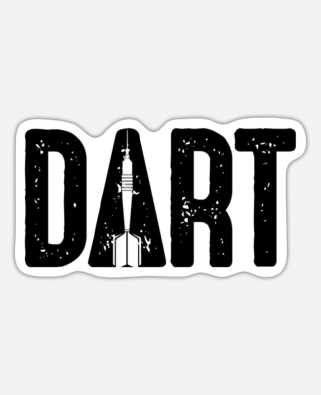 Arrow Stickers - DART - hobby arrow - darts dart arrow game - Sticker white matte