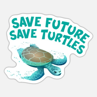 Turtle sea conservation environmental protection gift - Sticker