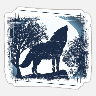 Pack-animals Wolf pack of animals - Sticker