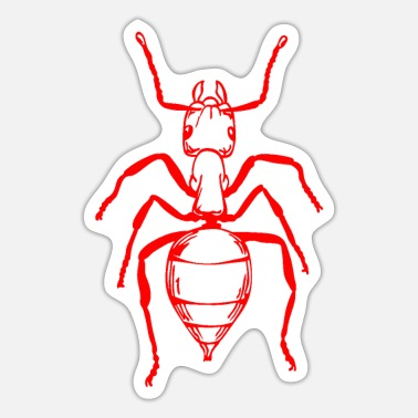 Red Ant in red - red ant - Sticker