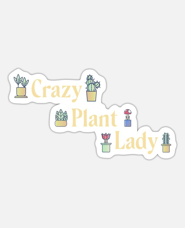 Nature Stickers - Plants Lady - Sticker white mat