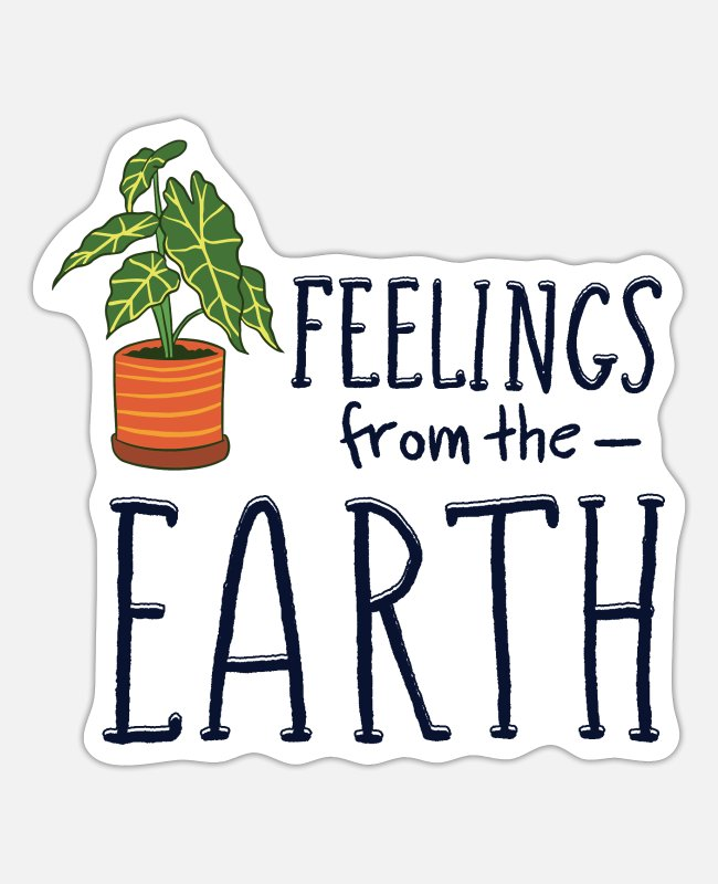 Nature Stickers - Feeling from the Earth - Sticker white mat