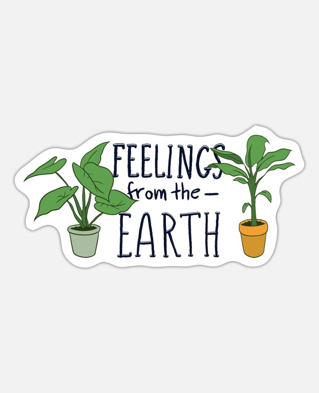 Nature Stickers - Feelings from the Earth - Sticker white mat