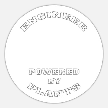 Vegan Engineer Funny Vegan Engineer Powered by Plants - Sticker