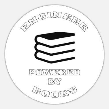 Vegan Engineer Funny Engineer Gift, Powered by Books - Sticker