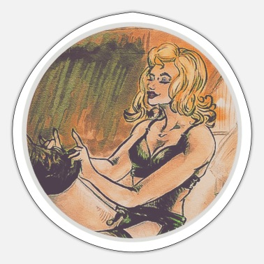 Pin-up Retro pin-up - Sticker