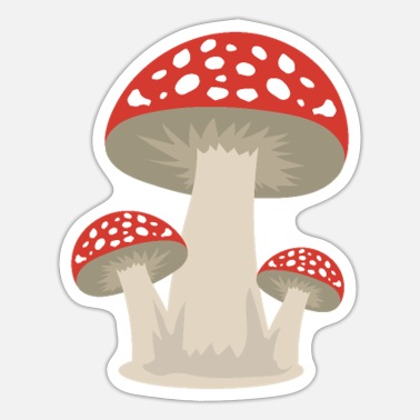 Mushroom lucky guy forest gift idea - Sticker