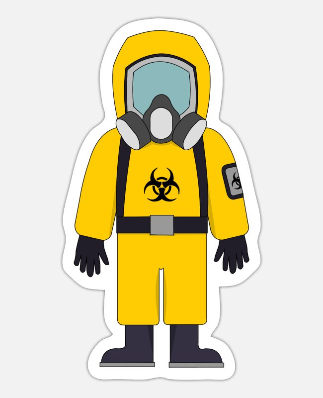 Suit Of Armor Stickers - Biohazard Suit - Sticker white matte
