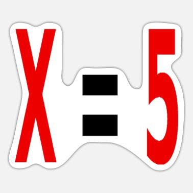 Variable Not Found x equals 5 v2 black - Sticker