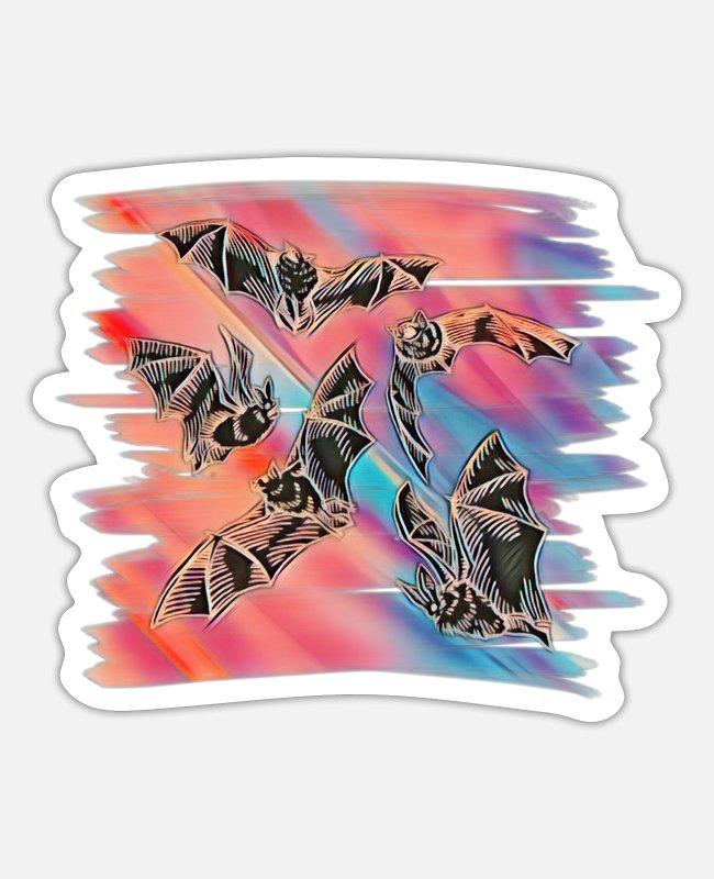 Bats Stickers - bat - Sticker white matte