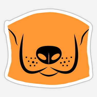 Mouth mask with dog as a face mask - Sticker