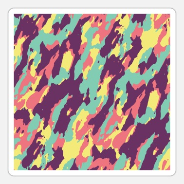 Camouflage Colors Camouflage Colorful camo pattern - Sticker