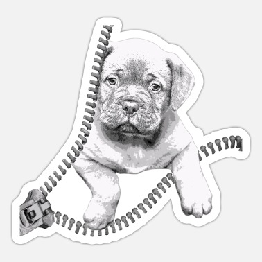 Dogue De Bordeaux Dogue de Bordeaux black and white puppy - Sticker