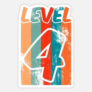 Checkout Level4 birthday / checkout vintage look - Sticker