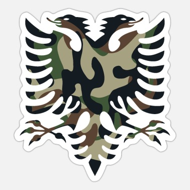 Camouflage Colors Albania flag camouflage colors - Sticker