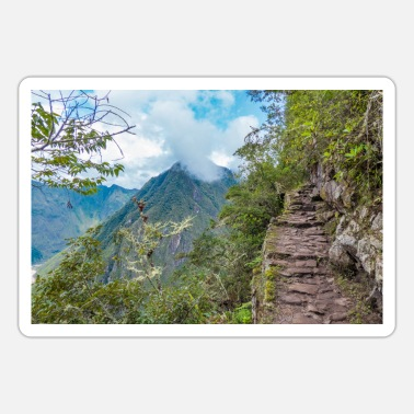 Cusco Steps on the Machu Picchu Cusco Peru - Sticker
